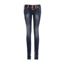 Hot Sale Skinny Jeans Woman Autumn Top New 2016 Pencil Jeans For Women Fashion Slim Blue Low Waist Jeans Women's Denim Pants(China (Mainland))