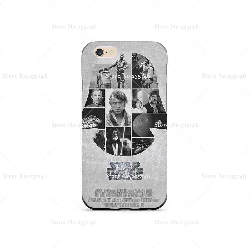star wars poster 04 Hard Plastic Clear Back Transparent Style Case Cover for iPhone4s 5s 5c