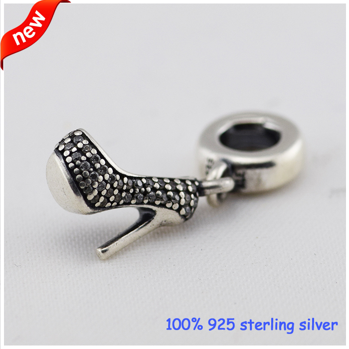 Fits Pandora Bracelets Stiletto Dangle Silver Beads With Cubic Zirconia 2015 New 100% 925 Sterling Silver Charms DIY  Wholesale<br><br>Aliexpress