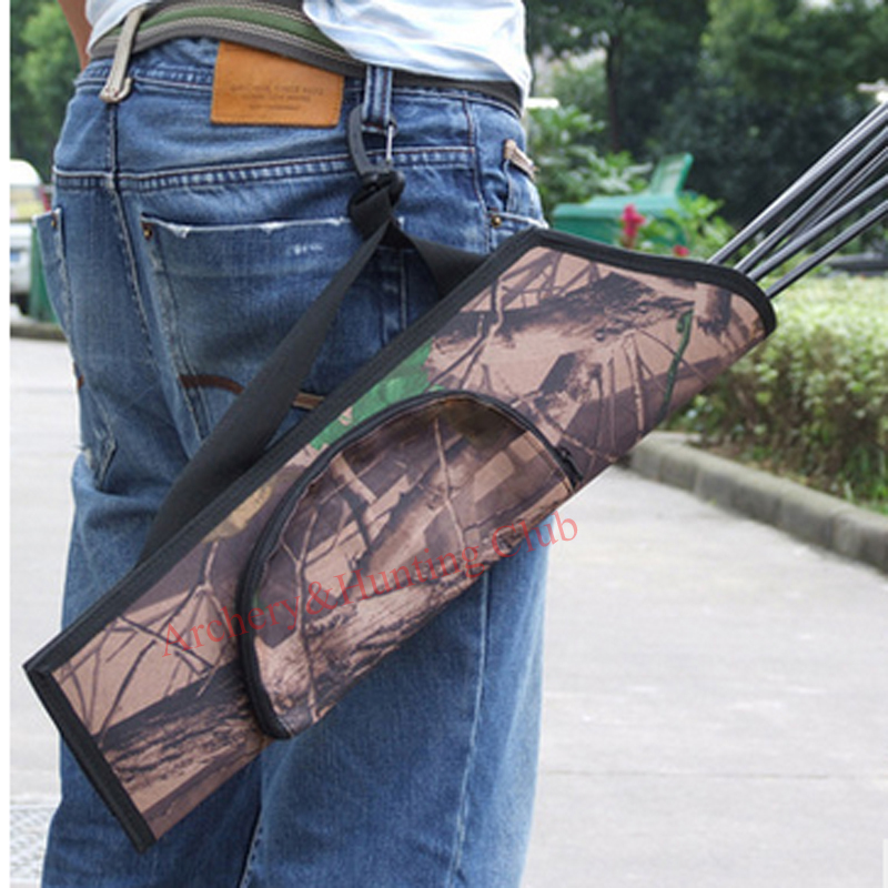 Camouflage for hunting bow and arrow set archery accessories arrow quiver bag with waist hook