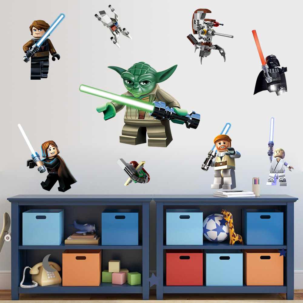 Tapeten Kinderzimmer Star Wars : LEGO Star Wars Wall Decals