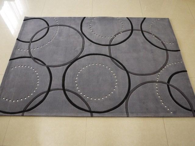 Modern brief crystal soft screen artificial wool carpet handmade scissors flower living room coffee table carpet bedroom bed