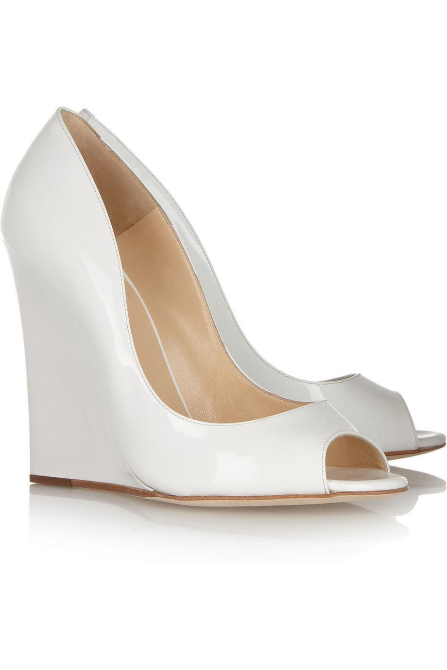 White Thick Heels