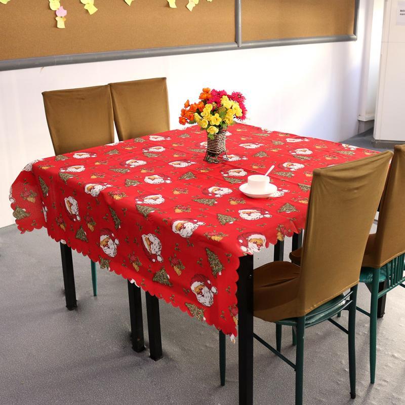 1pcs 150x180cm square printed tablecloth santa claus christmas tree
