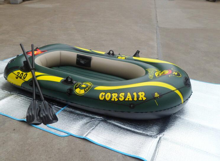Oversized thickening 3 / three kayaks inflatable boat inflatable boat fishing boat outdoor pirate ship(China (Mainland))