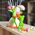 Kawaii Frog Marriage proposal Resin Crafts Figurines For Home Decoration Wedding Gift Lay Flowers Animal Resin