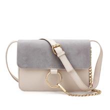 Women Messenger Bag Designers Brand Herald Fashion Suede Leather Flap Lady Small Chain Handbags Female Metal Circle Corssbody