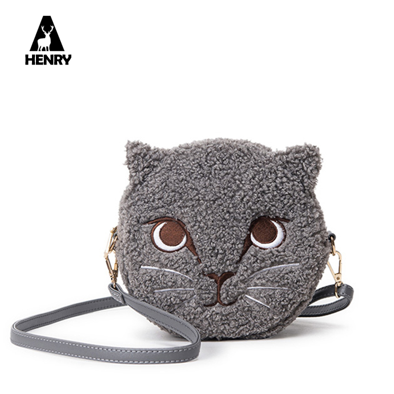 2017 Time-limited Rushed Polyester Zipper Circular Autumn Winter Women Plush Shoulder Bag Warm Soft Cute Unique Crossbody Bags(China (Mainland))
