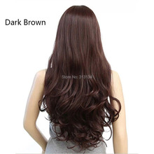 Girls Lovely Wig Long Hair Wavy Curly Wig Add Free Lace Wig Cap Cosplay Synthetic Hair Heat Resistant Wig(China (Mainland))