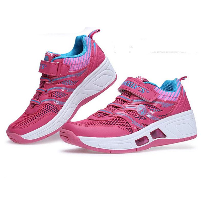 Child heelys Jazzy Junior girls boys heelys roller shoes for children EU Size 30-41 wheel shoes breathable rollerskate<br><br>Aliexpress