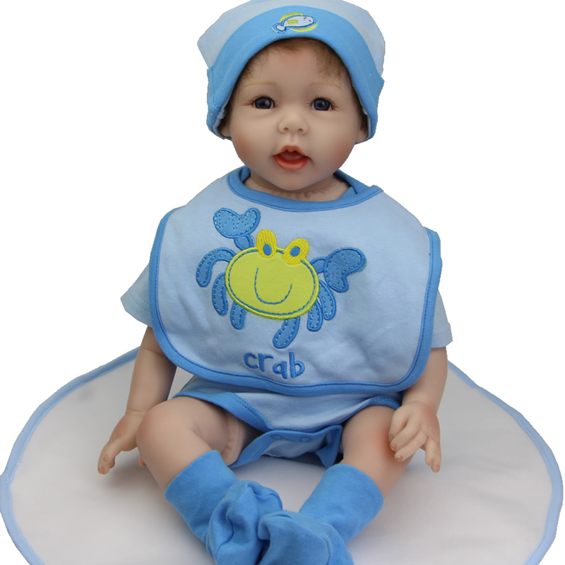NPK 22 Inches Reborn Babies Collectiable Soft Silicone Boy Doll As Birthday Gifts Free Shipping And Free Pacifier<br><br>Aliexpress