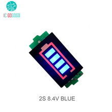 Buy 2S 2 Series Lithium Battery Capacity Indicator Module 8.4V Blue Display Electric Vehicle Battery Power Tester Li-po Li-ion for $1.25 in AliExpress store