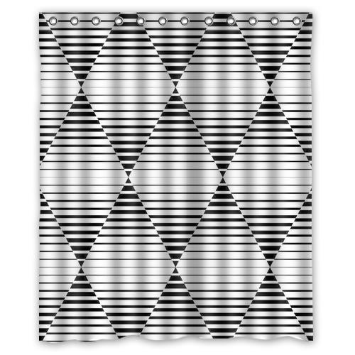 Black and white font b chequered b font custom Shower Curtain Bathroom decor fashion design Free