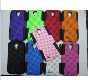 For samsung   i9500 galaxys4 two-in-one phone case mobile phone case i9500 silica gel protective case