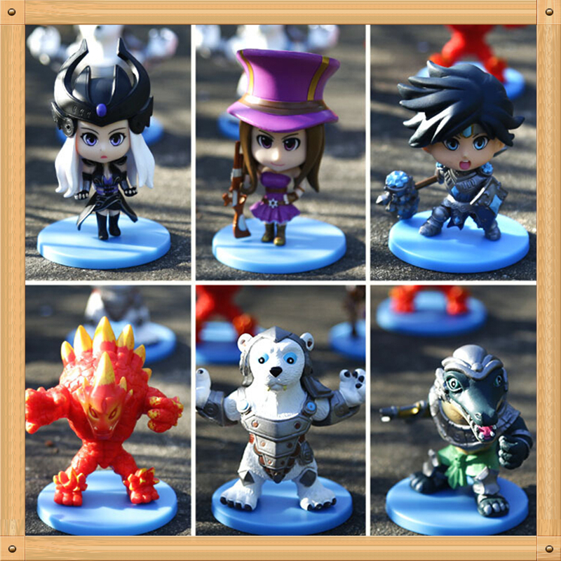 Free Shipping 6pcs/set 12CM LOL PVC Action Figure Malphite Renekton Volibear Caitlyn Taric Syndra Collectible Model Toy<br><br>Aliexpress
