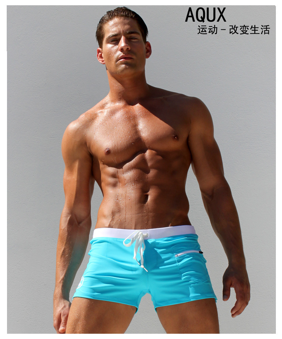 Hot Sexy Men Swimwear Brand AQUX Mens Swimsuits Surf Board Beach Wear Man Swimming Trunks Boxer Shorts Swim Suits Gay PouchОдежда и ак�е��уары<br><br><br>Aliexpress