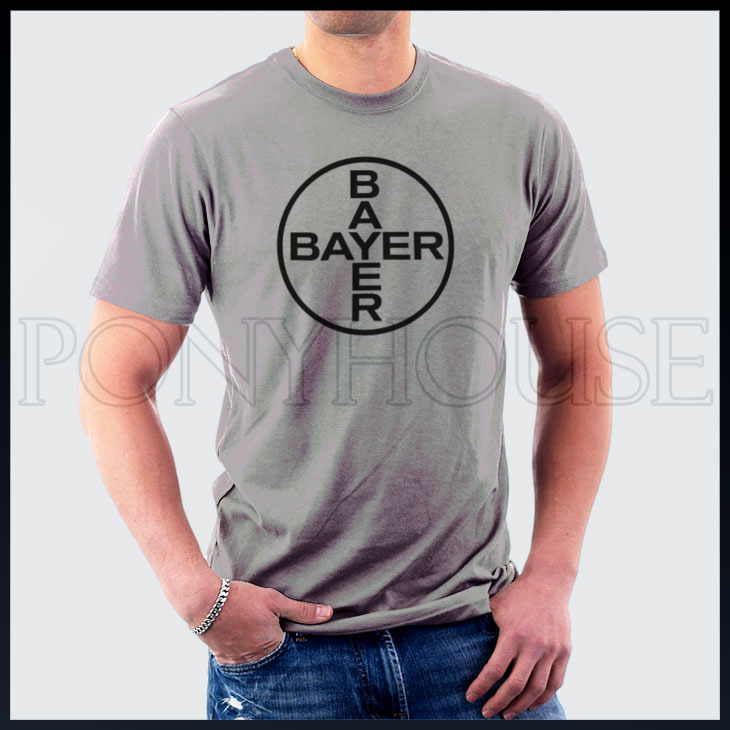 2014 Style Biochemical Chemical Industry Bayer T-shirt cotton Lycra top 10727 Fashion Brand t shirt men new high quality(China (Mainland))