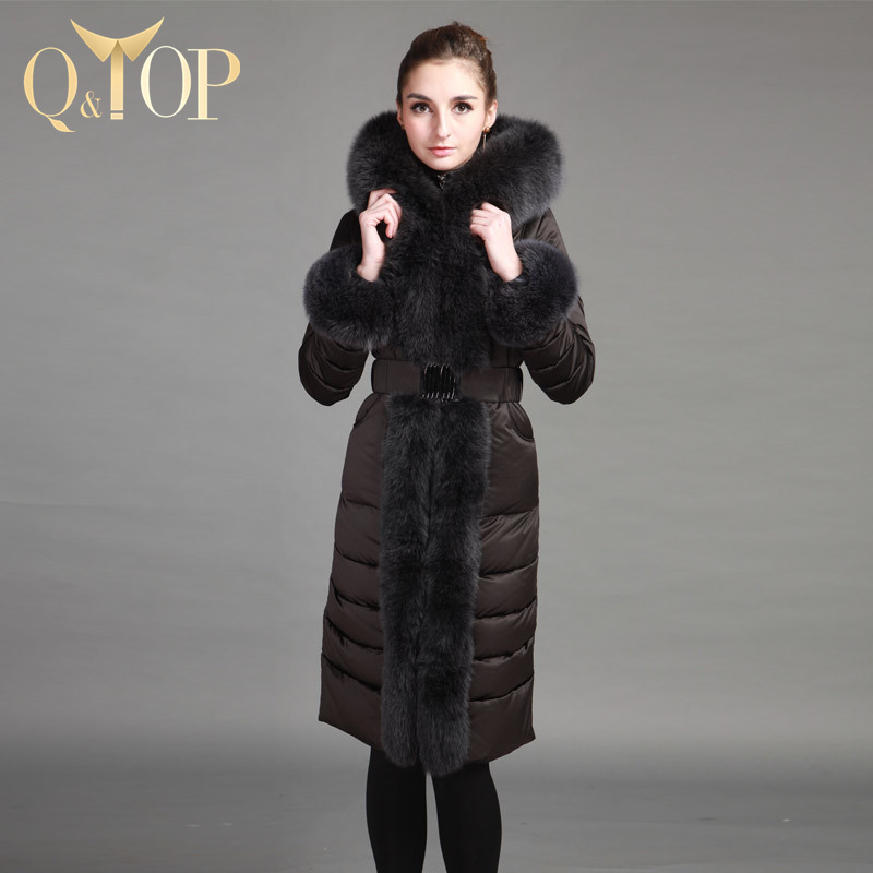 2015 Windproof Winter Jacket Women Long Goose Down Coat Luxury Real Fox Fur Parka Slim 95% Goose Down Ticken Warm Free ShippingОдежда и ак�е��уары<br><br><br>Aliexpress