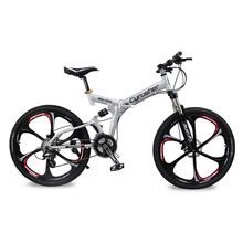 Cyrusher RD-100 Full Suspension 24 Speeds Folding Mens Mountain Bike Bicycle 17 inch in Aluminium Frame Disc Brakes(China (Mainland))