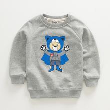 2016 New Girls Fashion Hoodie Children Long Sleeve T-shirts Girl Sweatshirts Kids Top Clothes Super Bear 4 Colors(China (Mainland))