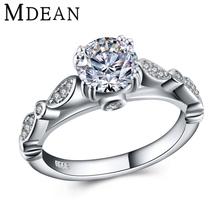 MDEAN женщин серебряные кольца 925 твердые ювелирных изделий стерлингового серебра обручальные кольца для женщин винтаж bague обручальное кольцо способа MSR447(China (Mainland))