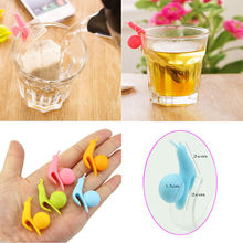 Randome Color!! 5 PCS Cute Snail Shape Silicone Tea Bag Holder Cup Mug Candy Colors Gift Set GOOD