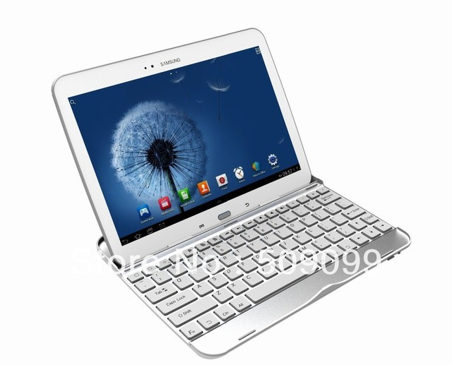 Aluminium Ultra thin Shell Bluetooth Keyboard For Samsung Galaxy Tab 3 10.1 GT-P5200/P5210  100pcs/lot  Free shipping