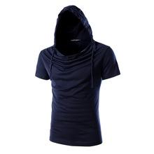 2016 New Arrival Men Short Sleeve Hoodies with hood Fashion Design Man Sweatshirt High Quality 8 Colors (China (Mainland))