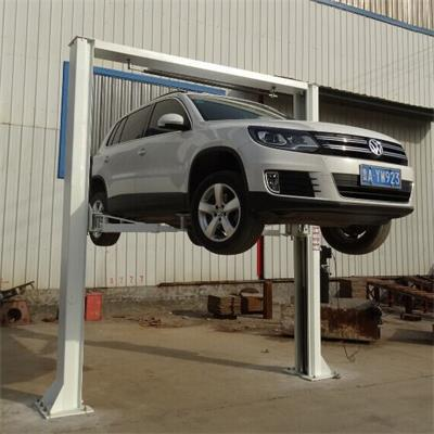 Car Lift Clear Floor Design Manual Mechanical Loce Release From Two Side Lifting Equipment AOS-D3500(China (Mainland))