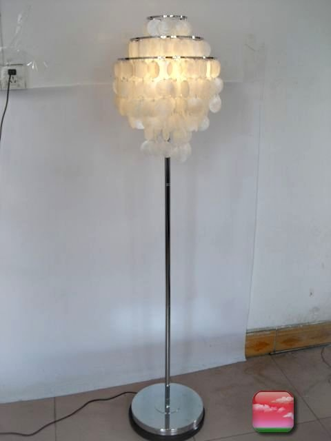 floor lamps buy cheap shell floor lamps lots from china shell floor. Black Bedroom Furniture Sets. Home Design Ideas