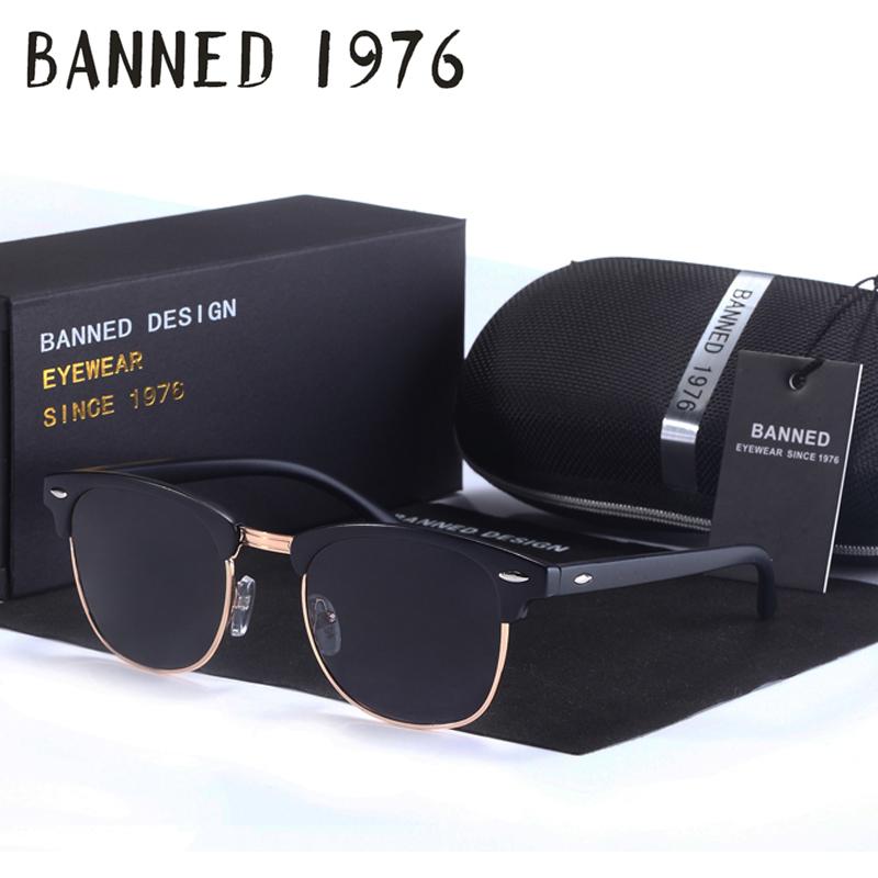 Anti glare HD Polarized men women Sunglasses Classic fashion club Brand Sun glasses Coating Drive Shades gafas De Sol Masculino