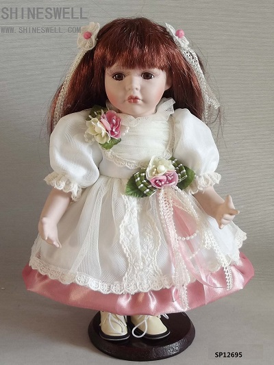 FREE SHIPPING 12 INCH/ 30CM PORCELAIN DOLL WITH MANUFACTURER PRICE AND JAPANESE DOLL FOR DIRECTION(China (Mainland))