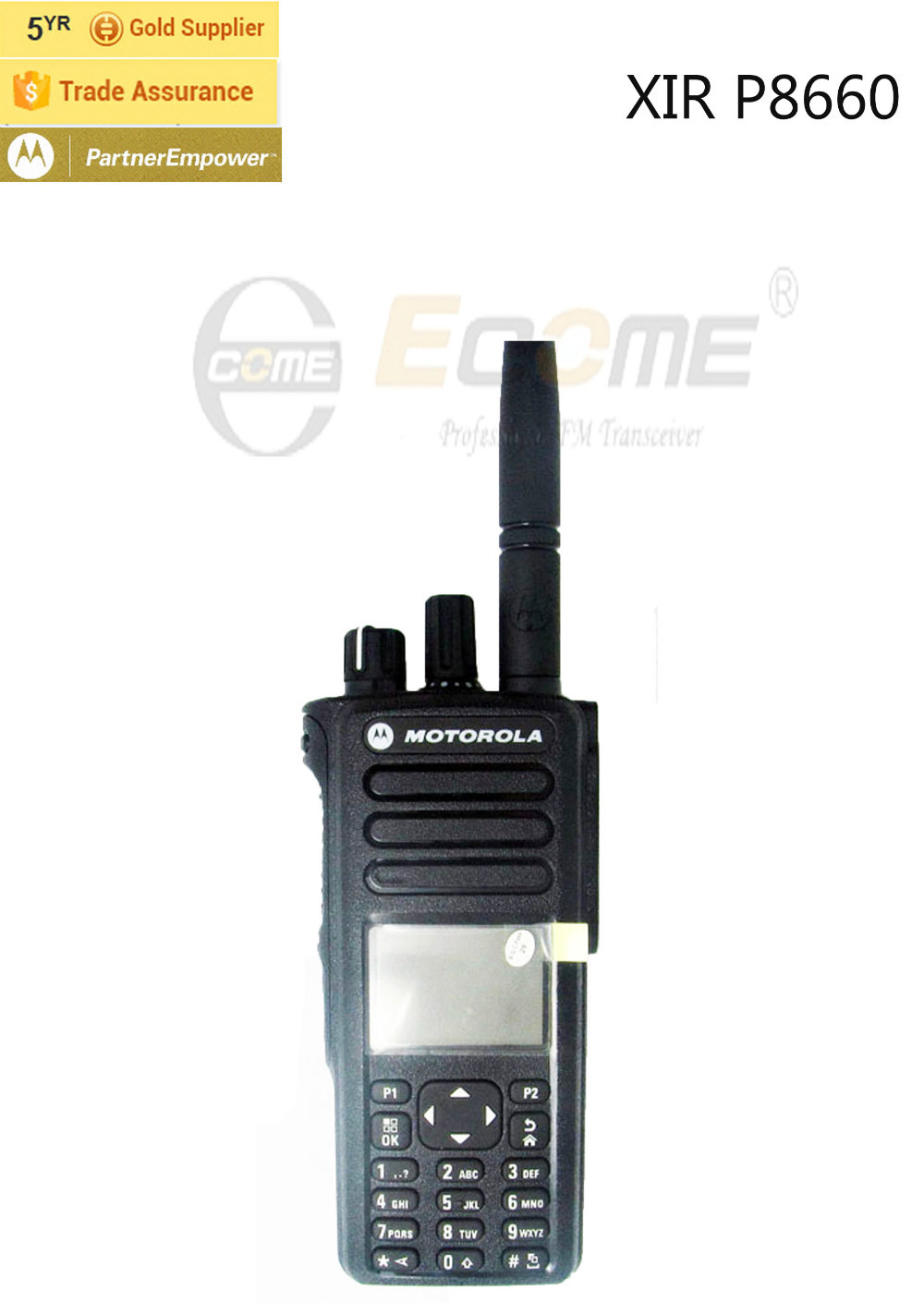Dual Band UHF VHF Mobile Radio Motorola XIR P8660(China (Mainland))