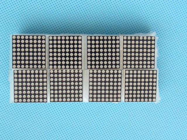 20 pcs 8x8 Mini Dot Matrix Display LED Tube Anode Numérique Rouge Commun 16-pin 20mm x 20mm 1.9mm Kit Électronique DIY(China (Mainland))