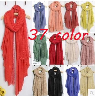 2014 new women fashion printe floral lace high quality viscose plain shawls long wrap hijab muslim scarves/scarf 10pcs/lot(China (Mainland))