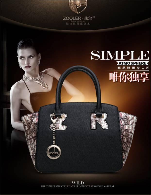 For Crocodile zipper handbag 2014 bag swing bag cowhide women's handbag shoulder cross-body bag(China (Mainland))