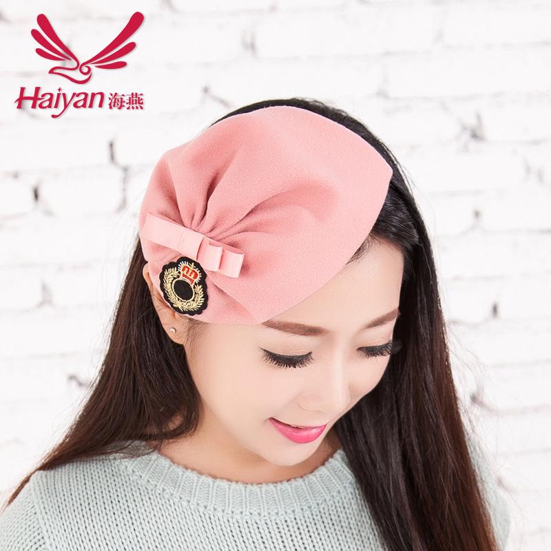 2015 Geometric Adult Hairbands Novelty Women Lycra Wool Headband Hairband Clips For Hair New Hot Hair Velvet Hat Badge Fine(China (Mainland))