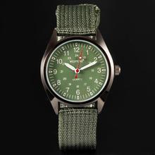 2015 caliente nueva moda relojes de cuarzo correa de lona Fabric soldado militar para hombre hombres reloj Casual