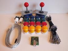 Аркады деталей машин : 2 X джойстики 16 кнопки + интерфейс USB + монтажный комплект