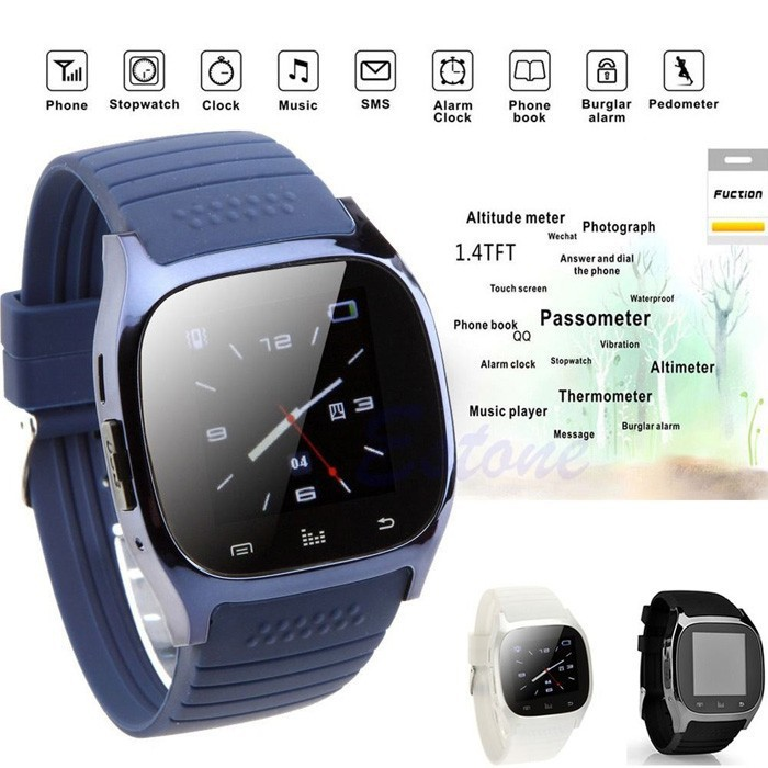 Smart Bluetooth Watch Smartwatch M26 with LED Display Barometer Alitmeter Music Player Pedometer for Android Mobile Phone(China (Mainland))
