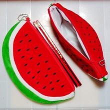 Big Volume Watermelon School Kids Pen Pencil Bag Case Gift Pendant Cosmetics Purse Wallet Holder Pouch  School Supplies OP2023(China (Mainland))