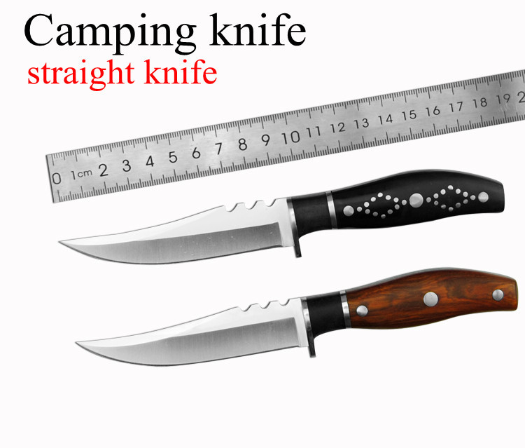 Buy Fixed Hunting Knife 3Cr13 Blade Tactical Survival Knives Camping Pocket Tools Outdoor Knife with Wood Handle cheap