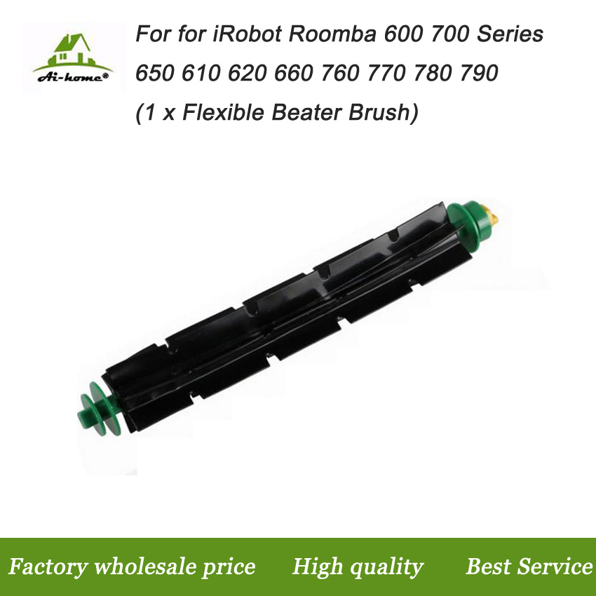 New High Quality Flexible Beater Brush for iRobot Roomba 500 Series 510 530 535 540 550 560 570 580 Robotic Vacuum Cleaner Parts(China (Mainland))