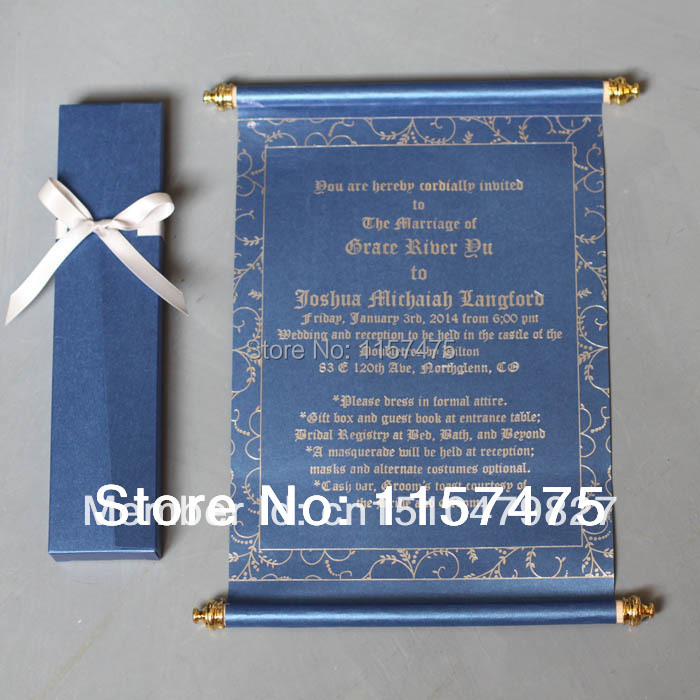 HI2051 - Hot Sale Scroll Invitations for Party / Greeting Cards(China (Mainland))