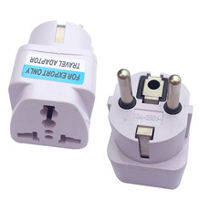 Buy 500pcs Wholesale universal EU GER AU USA Plug Adapter Power Socket White Travel Converter Conversion Plug for $146.00 in AliExpress store