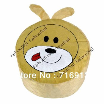 *New Cute Puppy Villus Inflatable Pouf Chair Seat Bedroom tongueing dog logo Stools Baby Cartoon Drop Shipping 15008