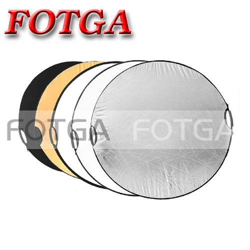 "Free shipping 5 in 1 110cm 43"" Portable Collapsible Light Round Photography Reflector for Studio Multi Photo Disc(Hong Kong)"