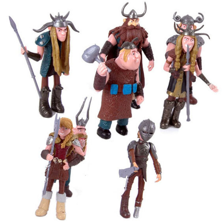 8pcs/set Plastic Fashion How To Train Your Dragon Kids Toys High Quality Russian Doll Cartoon Mini Dolls Model Brinquedos FD063(China (Mainland))