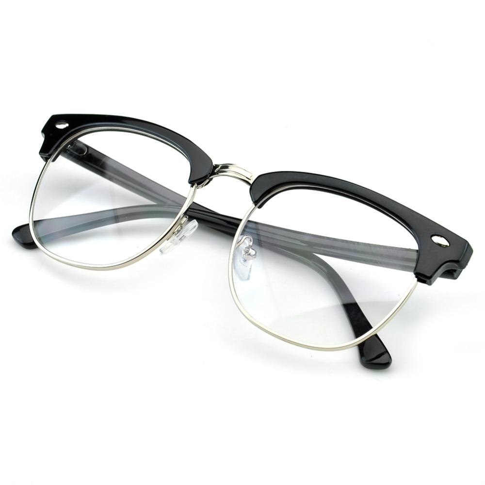 Eyeglass Repair Half Frame : PenSee Vintage Inspired Classic Half Frame Horn Rimmed ...