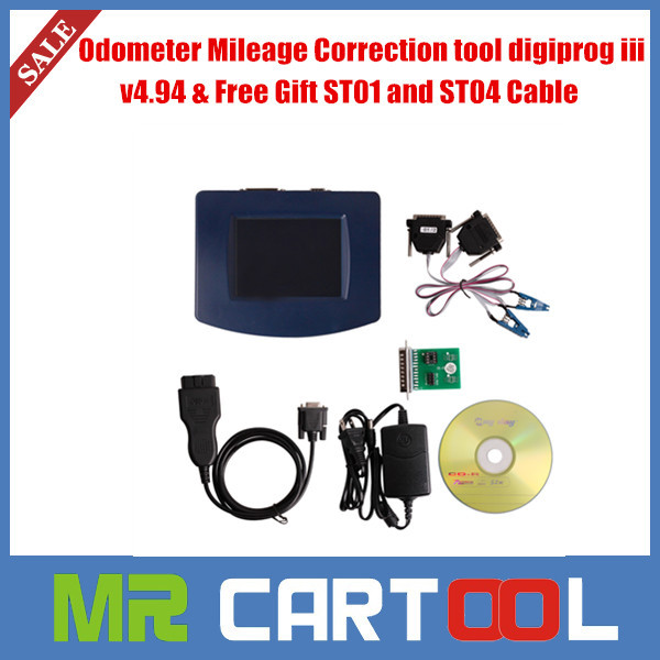 2015 Europe and USA FREE SHIPPING Digiprog iii digiprog 3 obd version odometer programmer V4.94 with OBD2 ST01 ST04 Cable(Hong Kong)